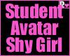 Student Avatar Shy Girl