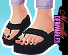 ! All Black Sandals