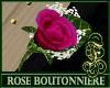 Boutonniere Rose Fuchsia