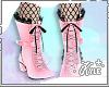Pink/Black Lolita Boots
