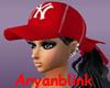 ~ARY~ NY Red Cap w/ hair
