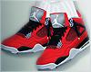 Her Jordan 4's red