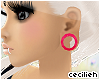 ! pink XL ear-tunnels