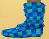 Teal Sock Slouch Plaid F