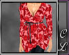 Surplice Red Floral
