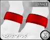 . paw cuffs | red