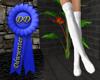 long white ribbed socks