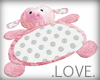 .LOVE. Pink Lamb Pillow