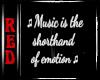  R WallQuote: Music Emo