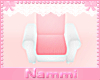 Kids scaled chair w/pink