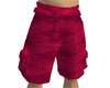 Red Suede Cargo Shorts
