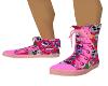 Pink Suga Skull Sneakers