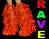 Orange Rave Club Boots