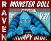 BLUE MONSTER DOLL V2!
