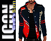 ICON Red Blue/Whi Jacket