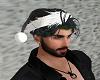 Black Santa Hat W/Hair