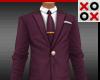 Small Suit & Tie Maroon