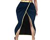 Blue Front Split Skirt