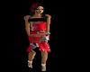 Flower Dress Blk&Red