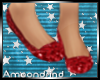 AM:: Red Glitter Flats