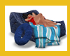 INFLATABLE KISS BED BEAC