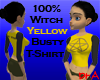 100% Witch Yellow Tee