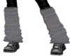 Gray Thermal Leg Warmers