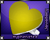 {-} Heart Ring | Yellow