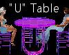 """""""U"""" Club Table for 4"""