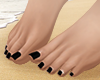 S. Bare Feet Black Pedi
