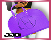 Herms Wrist Bag Purple