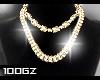 |gz| gold necklaces $ M