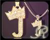 R  J gold Dm necklace