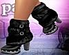PF Fur Black Boots