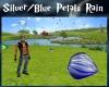 Silver/Blue Petals Rain