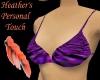~h~ purple bikini top