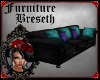 BS*MV BlackTeal Couch