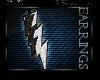 * Glitter Bolt Earrings