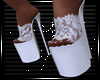 Lace Heels White