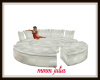 White Satin Couch
