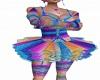 rainbow rave tutu dress