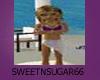 (S)White & Purple sarong