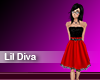 (M) Lil Diva Red Black
