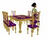 Gold& Purple Table Set