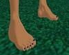 Dorna feet blue nails