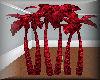 Red Neon Palm Club Tree