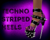 Techno Stripe Heels