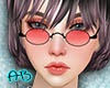 [AB]90'S Glasses Red