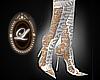 LIZ white Lace boots