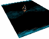 Black and teal Carpet